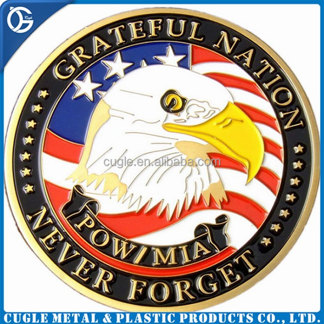 Custom navy eagle shape metal challenge souvenir coins