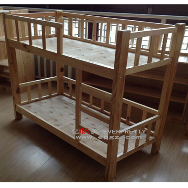 Double decker bed design pine wood double decker bed wood for Double bed with box design