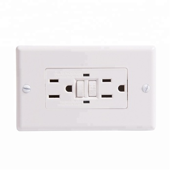 S90303 15 Amp GFCI Receptacles, Dual AC Outlets, Surge-Protected, 2 Wall Plate Included + LED Indicator Light