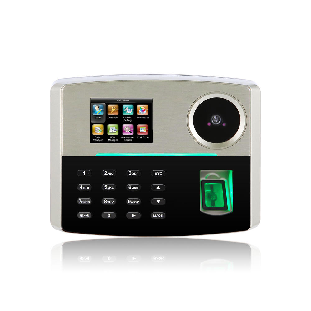 Linux system Employee time tracking biometric face recognition time attendance machine with face sensor