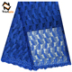 Royal blue ankara trustwin lace fabric nigeria