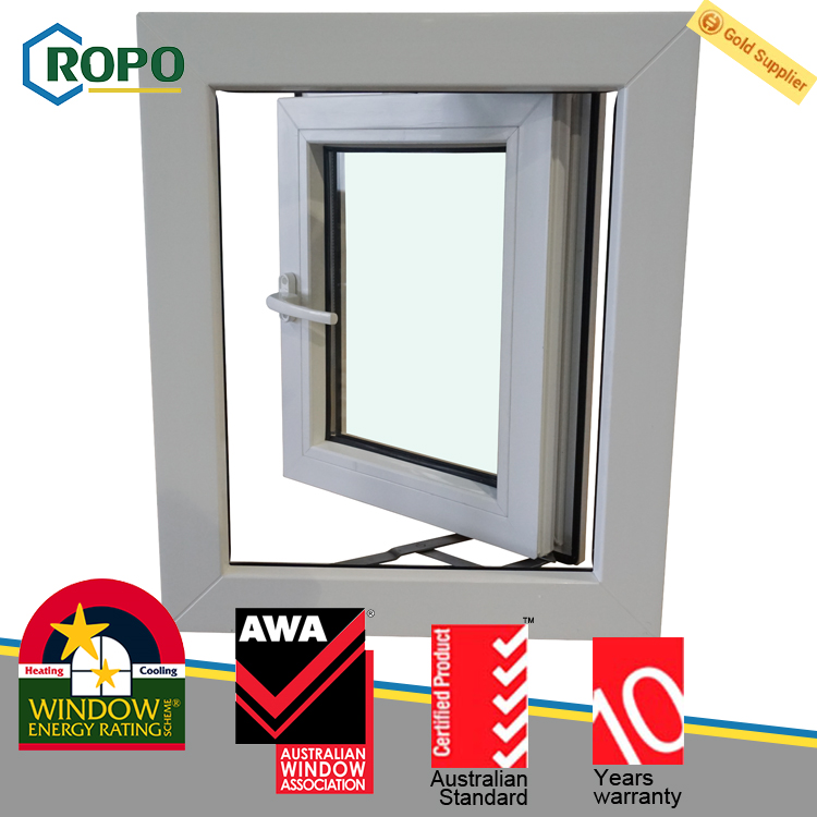 Plastic steel Vinyl replacement impact outward opening window prices