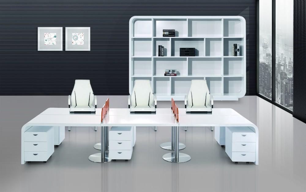 Luxe moderne kantoor werkplek kantoor werkplek twee personen bureau kantoortafels product id - Moderne kantoorbureaus ...