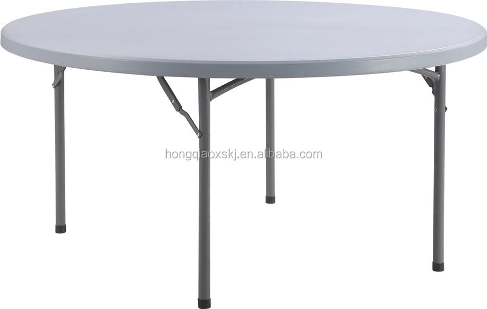 Round Table Seats 8 Diameter: 60 ''de Diâmetro Mesa Redonda/dobrável 8 Lugares Mesa De