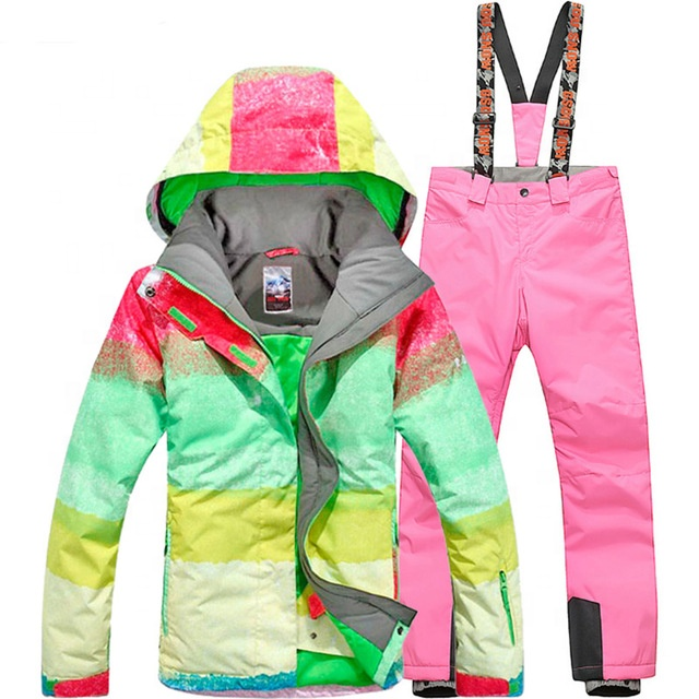 Meisjes Kleurrijke Waterdicht Skipak Kids Ski Jas Ski Broek Winddicht Snowboard Set