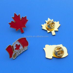 Canada travel souvenir gifts maple brooch country flag lapel pins