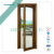 wood cladding aluminium window fixed glass window aluminium slide & fixed window