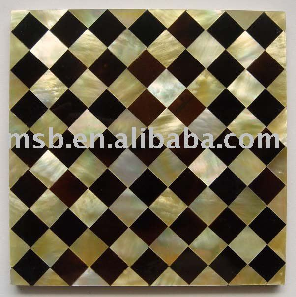 mixed yellow lipped MOP and pen shell patterned mosaic tile mother of pearl MOP shell panels for wall decoration