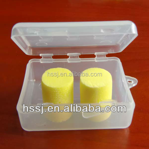 Anti Noise PU foam ear plugs ( SNR 33 )in plastic case