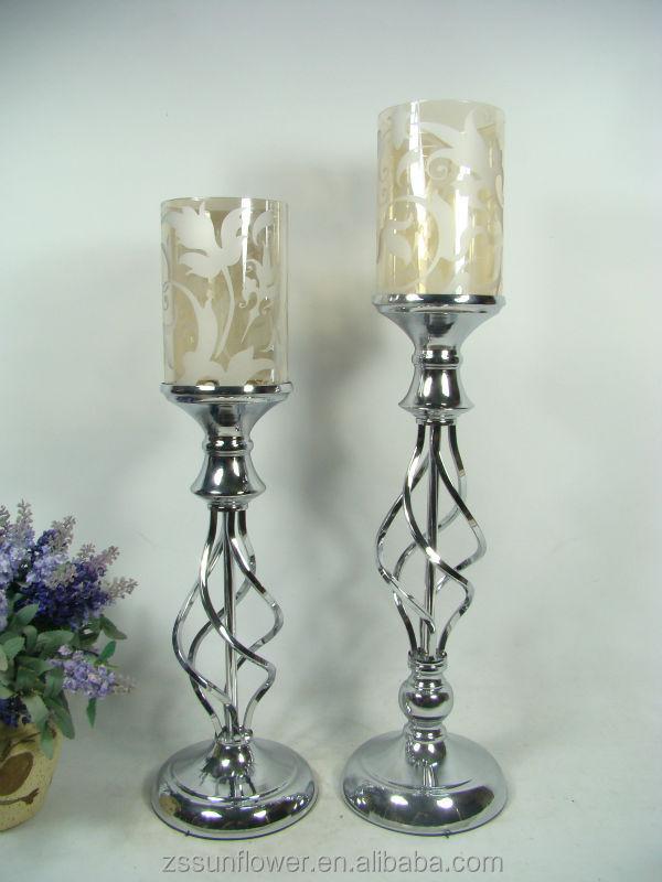tall glass pillar candle holders bulk candelabrum candle holders ...