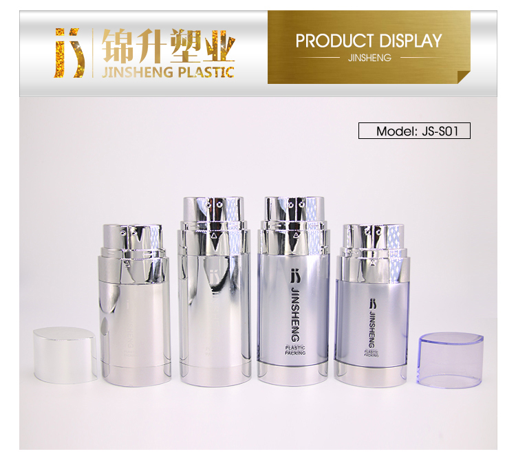 Top quality with logo customized  popular plastic dual chamber bottle for BB cream