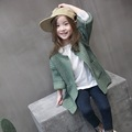 MS83634M winter 2016 fashionable kids girls knitted cardigan sweater