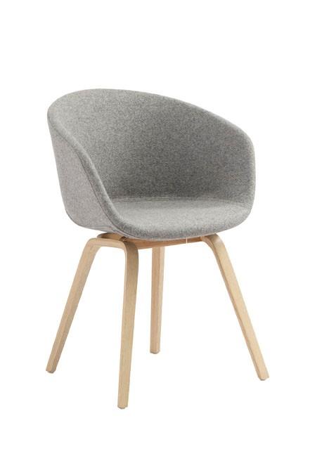 Newest Design Modern Living Room Outdoor Wooden Leg Round Lounge Chair