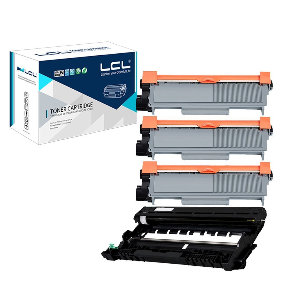 LCL Compatible for Brother TN660 TN-660 TN630 TN-630 DR630 DR-630 (4-Pack 3Toner+Drum) Toner Cartridge and Drum Unit for Brother DCP-L2500DR L2520DWR L2540DNR L2560DWR HL-L2380DW L2360DN L2300DR