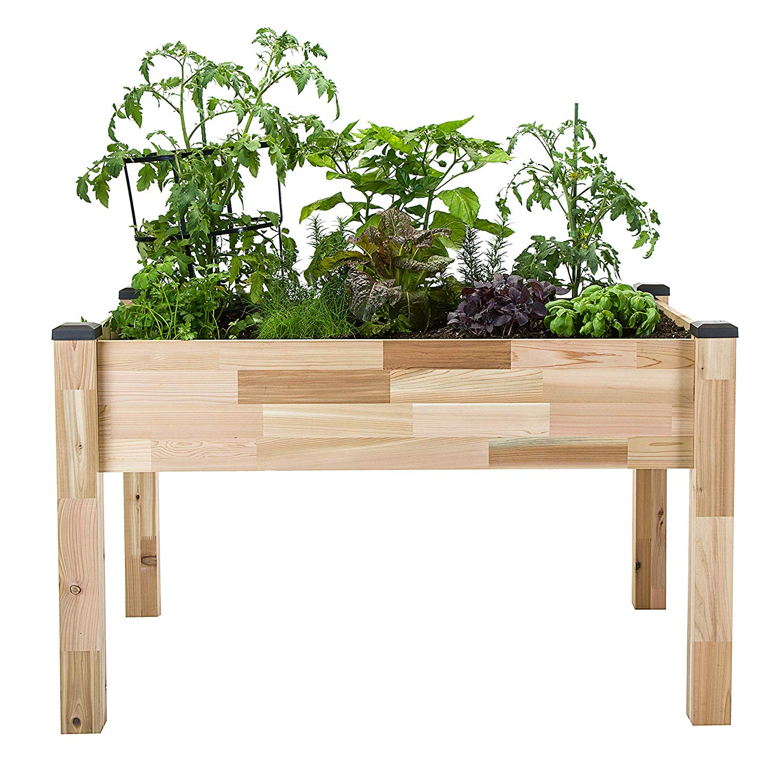 """CedarCraft Self-Watering Elevated Cedar Planter (23"""" X 49"""" X 30"""") - Grow Fresh Vegetables, Herb Gardens, Flowers & Succulents. Raised Garden Bed for a Deck, Patio or Yard Gardening. No Tools Required."""