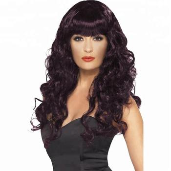 878fa90950aa2 Ladies Coloured Curly Siren Mermaid Fancy Dress Halloween Long Wave Wigs