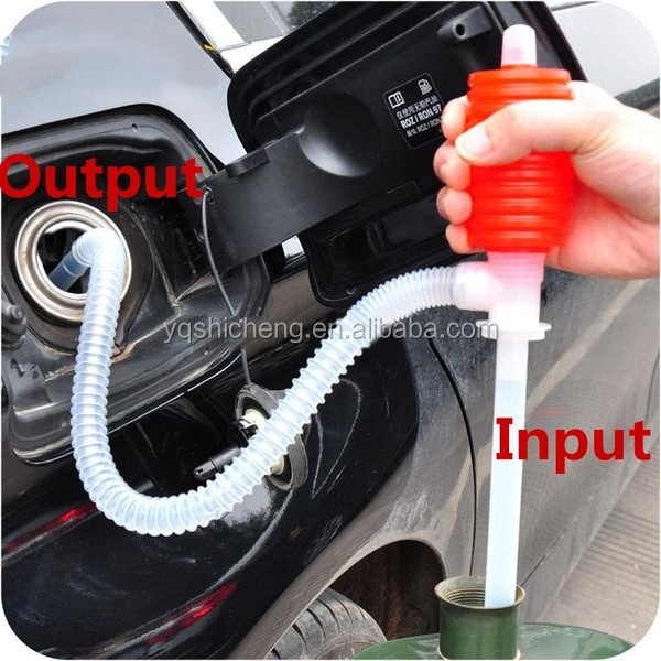 Draagbare Auto Manual Hand Siphon Pomp Slang Gas Water Olie Syphon Transfer Pomp