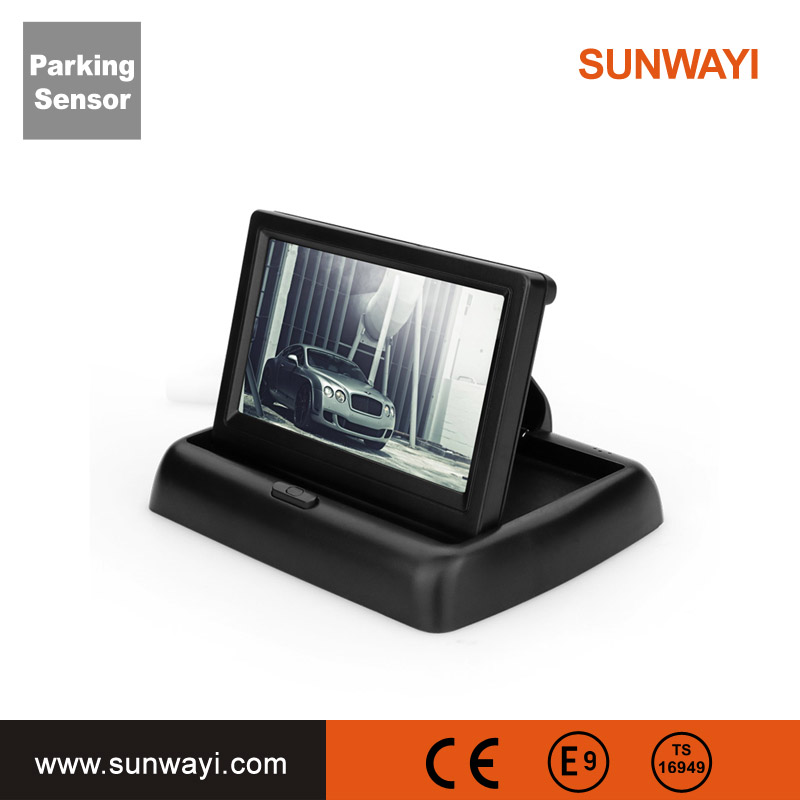 OEM manufacture car monitor mini camera 4.3 inch bluetooth and MP5 rear parking sensor