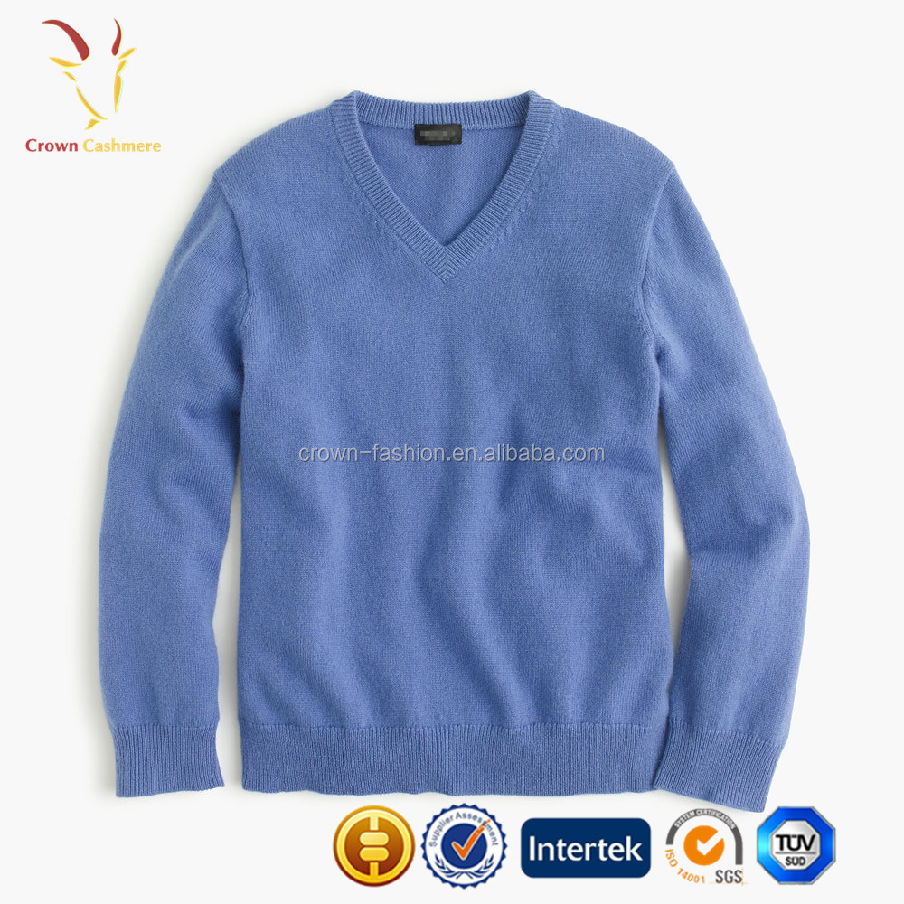 Kids Wool V Neck Knitted baby Cashmere Pullover Sweater