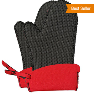 F07 Kitchen Cooking Heat Proof Resistant Bbq Grill Oven Hand Gloves Set Manufacturers Factory In China