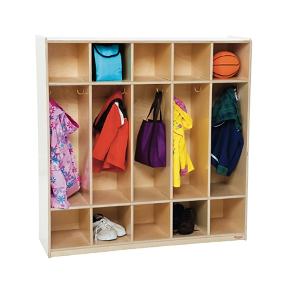 "Wood Designs 51200 5 Section Locker, 49"" Height, 18"" Width, 51"" Length"