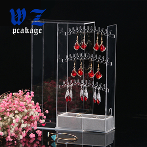 Wholesale factory custom acrylic pendant jewelry display with transparent acrylic necklace stand