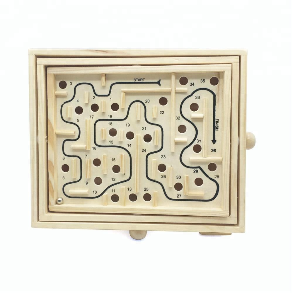 Kids Educational Mini Wooden Maze Game STEM Toys