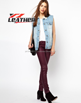 f9ead6a3975393 Leather Pants Dark Brown For Ladies - Buy Ladies Leather Pant ...