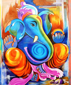 Factory Price High Quality Handmade Oil Painting on canvas Indian elephant oil painting wall art for living room decoration