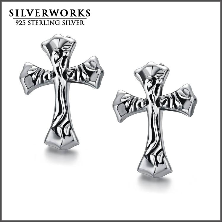 4fe8e5e19 Wholesale Men's 925 Sterling Silver Celtic Cross Vintage Stud Earrings