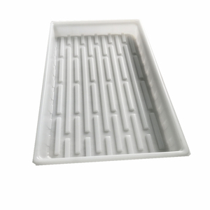 eco-friendly plant extra flood tray hydroponic growing plastic 1020 flat 1/2 deep tray