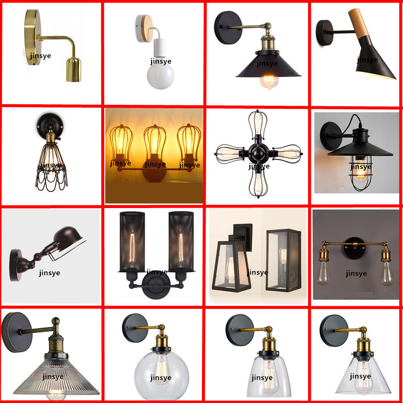 European American Loft style outdoor waterproof lamp Garden Industrial wall scone indoor vintage wall lamp light