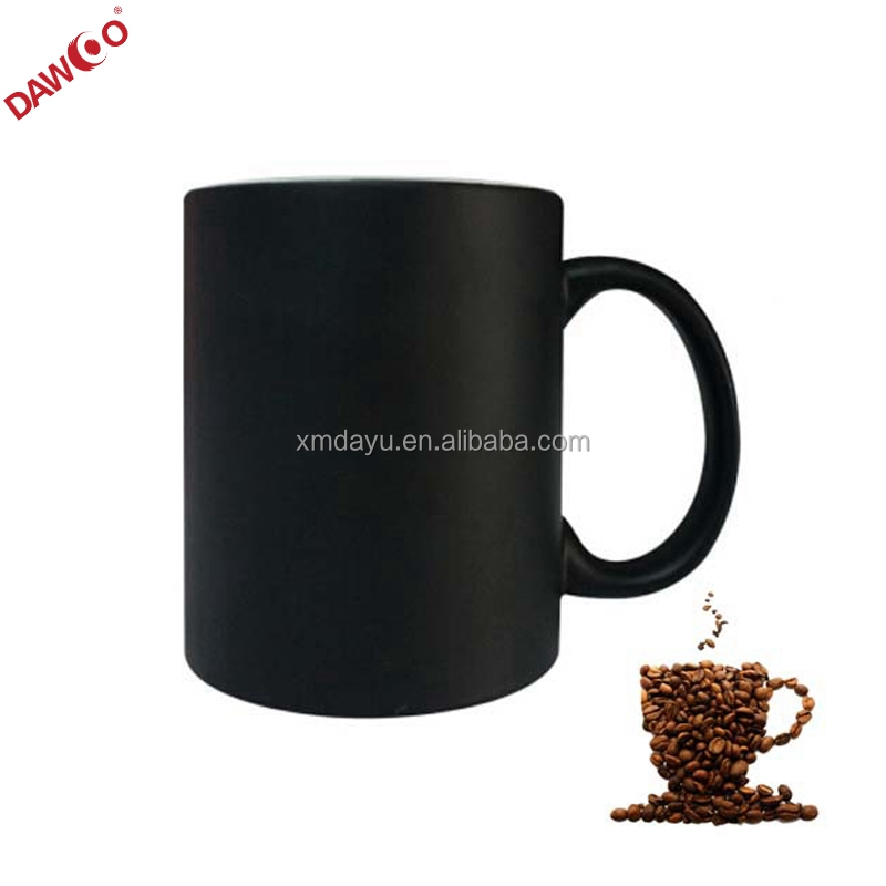 11 OZ ceramic material Matte finish black coffee mug