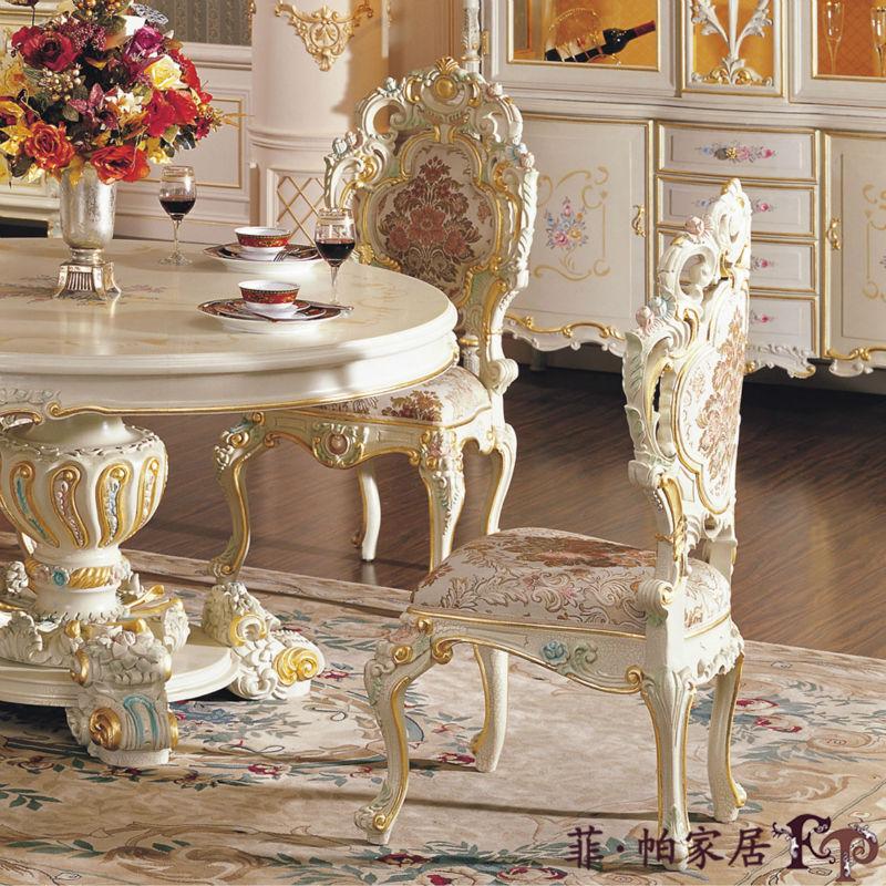 Casa de estilo italiano sillas de comedor mano de madera - Comedores antiguos de madera ...