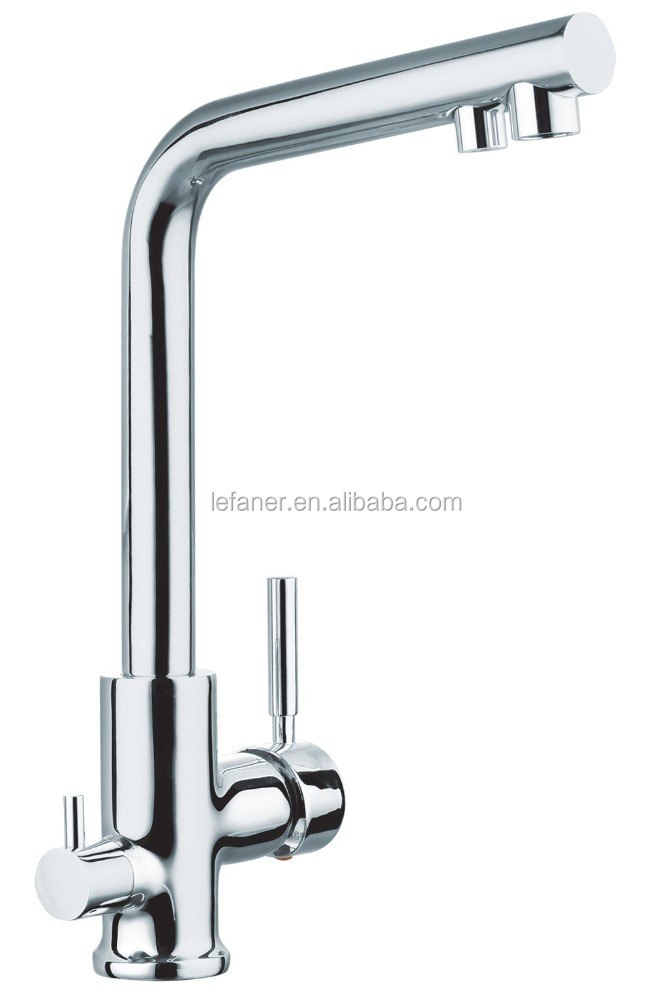 Brass Matrial without Pb Kitchen hot and cold funtion with drink water faucets 3 ways faucet