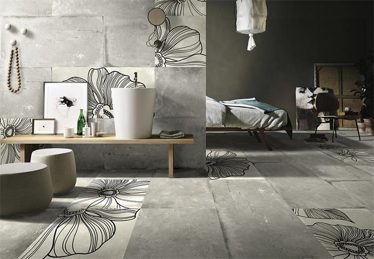 Ceramic Tiles 60*120 Grey Cement Rustic Tile Wholesale Porcelain Floor Tile