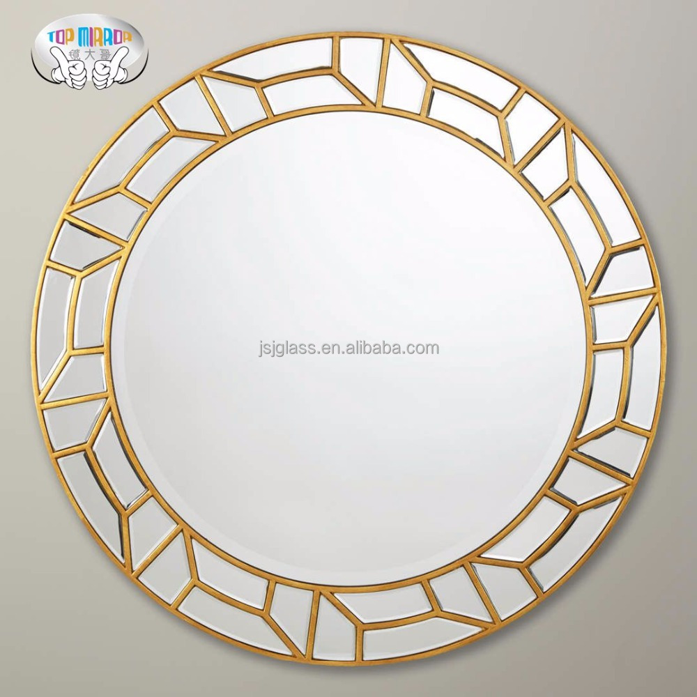 Home wall mirror decoration wall mounted round venetian mirror cheap china mirror factory