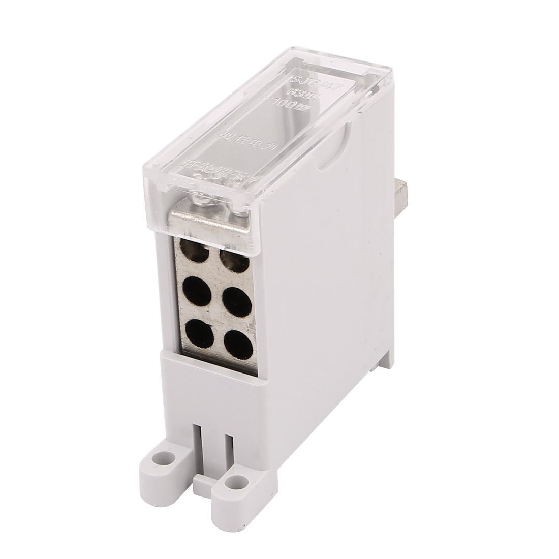 uxcell DZ47 Switch Terminal Wire Barrier Block 1 Inlet 6 Outlet for Miniature Circuit Breakers