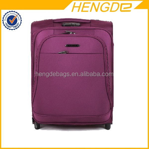 woman fancy purple royal polo luggage trolley case