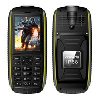 IP68 Waterproof Mobile Phone vkworld Stone V3 Max Dual Sim Card 2.4 inch 64MB+64MB Quad Band Rugged Cell Phone
