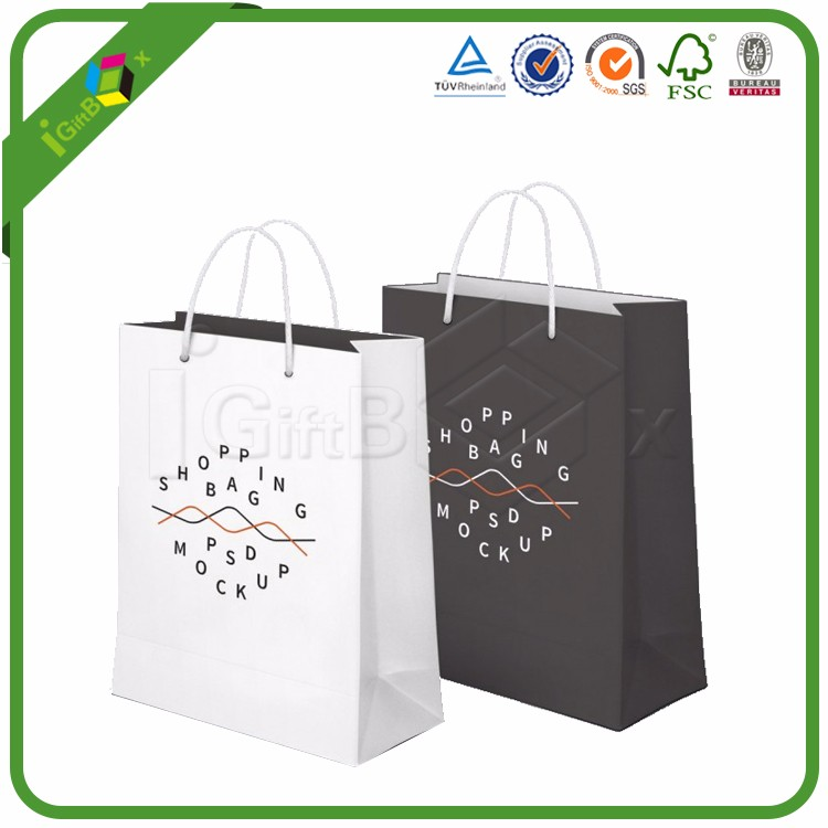 Luxury Custom Printed Laminated Shopping Gift Packaging Paper Bag With logo