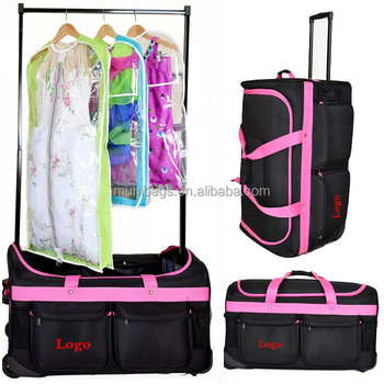 Dance Bag With Hanging Rack Custom Trolley Dancewear Ballerina Mirror