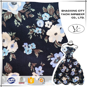 High Quality 95 Cotton 5 Spandex Floral Print Fabric for Trousers