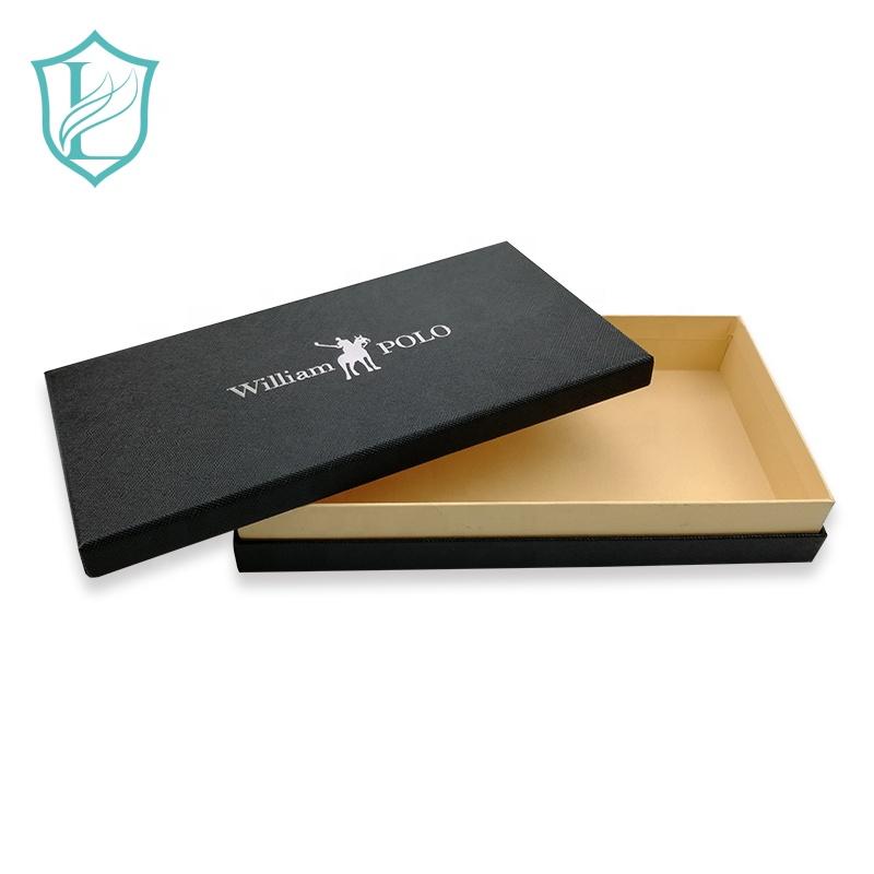 وشاح هدية صندوق أسود مخصص الذهب ختم صناديق ورق فضي ساخن صندوق كرتون للهدايا صندوق