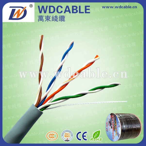 4 Pairs Network Pure Copper Ethernet 26awg Cable Cat5e UTP