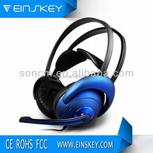 2017 Exhibition promotion heavy bass stereo leather headphone