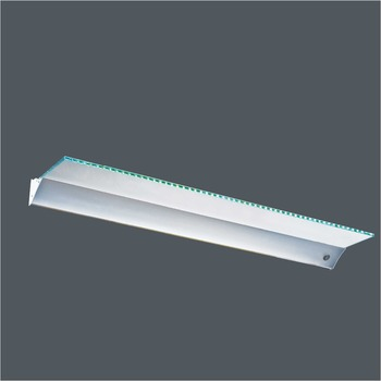 Aluminum housing display purposes illuminated LED glass shelf light