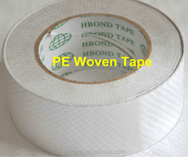 Alibaba China Best White Double PE Coated Plastic Woven Cloth Tape