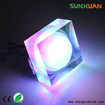 Bathroom Ceiling Lights Crystal Square bathroom decorative square and glass mini led crystal ceiling