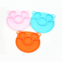 Baby Placemat Silicone Child Feeding Plate with Suction Cup